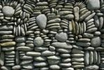 Thumbnail Pebbles artfully piled on top of each other as a wall, near Ubud, Bali, Indonesia, Southeast Asia, Asia