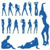 Thumbnail Sexy girls, silhouettes, illustration