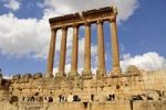 Thumbnail The six remaining columns of the Temple of Jupiter, UNESCO World Heritage Site, Baalbek, Beqaa Valley, Lebanon, Middle East, Orient