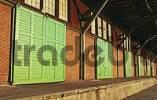 Thumbnail Closed gates at an old warehouse at Hamburg Harbour Germany