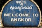 Thumbnail Welcome sign, Angkor Wat temple complex in Siem Reap, Cambodia, Southeast Asia