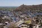 Thumbnail View on Bundi from the city palace, Rajasthan, India, Asia