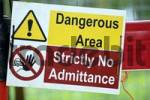 Thumbnail Warning sign Dangerous Area Strictly No Admittance
