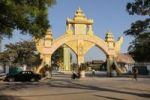 "Thumbnail Gateway to the Buddhist ""State Pariyatti Sasana University"" Mandalay, Myanmar, Burma, Southeast Asia, Asia"