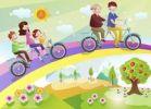 Thumbnail Happy family, illustration