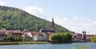 Thumbnail View towards Heidelberg and the Church of the Holy Spirit, Heidelberg, Neckar, Baden-Wuerttemberg, Germany, Europe
