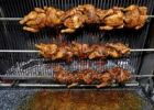 Thumbnail BBQ grilled chicken, chicken on rotating skewers