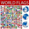Thumbnail World flags collection and planet Earth