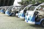 Thumbnail Electric vehicles in a row, China, Asia