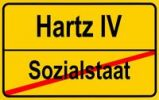 Thumbnail City limit sign, symbolic image for the incompatibility of a welfare state and Hartz IV