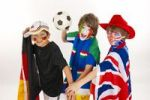 Thumbnail Soccer fans, various flags, football