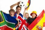 Thumbnail Soccer fans, various flags