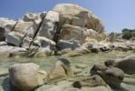 Thumbnail Bizarre granite rock formations and monoliths on the beach, Capo Ceraso, Sardinia, Italy, Europe
