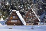 Thumbnail Wooden houses, snow, tourist resort, Gifu, Japan, Asia