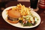 Thumbnail Cheeseburger with chips and salad, Ireland, British Isles, Europe
