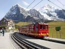 Thumbnail Scheidegg railway, snow-covered mountains, Bernese Oberland, Alps, Switzerland, Europe