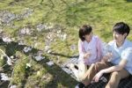 Thumbnail Young couple enjoying the cherry blossom