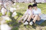 Thumbnail Young couple enjoying cherry blossom