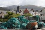 Thumbnail Dingle, fishing nets and town, County Kerry, Ireland, British Isles, Europe