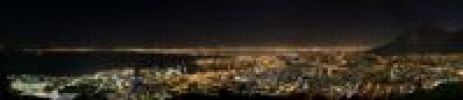 Thumbnail Cape Town at night with part of Table Mountain, South Africa, Africa