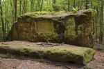 Thumbnail Altar stone at the Stimmersdorfer Weg trail, Saxon Switzerland, Elbsandsteingebirge Elbe Sandstone Mountains, Saxony, Germany, Europe