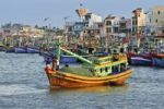 Thumbnail Colorful wooden fishing boats in the port of Phan Thiet, Vietnam, Asia