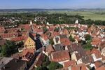 Thumbnail View from the tower of the Daniel or St.-Georgs-Kirche church to the west, Noerdlingen, Swabia, Bavaria, Germany, Europe