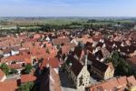 Thumbnail View from the tower of the Daniel or St.-Georgs-Kirche church to the north, town hall, Noerdlingen, Swabia, Bavaria, Germany, Europe