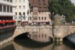 Thumbnail Museumsbruecke bridge, Pegnitz River, Nuremberg, Middle Franconia, Franconia, Bavaria, Germany, Europe