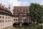 Thumbnail Heilig-Geist-Spital building, Pegnitz River, Nuremberg, Middle Franconia, Franconia, Bavaria, Germany, Europe