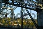 Thumbnail bridge Blaues Wunder over river Elbe Dresden Saxony Germany