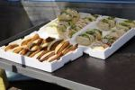 Thumbnail Bread rolls with fish for sale in Wismar, Mecklenburg-Western Pomerania, Germany, Europe