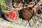 Thumbnail Garden decorations with apples and basketry