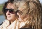 Thumbnail Portrait of two teenagers with sunglasses