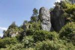 Thumbnail Climbing rock Steinfelder Wand, Franconian Switzerland, Franconian Alb, Franken Jura, Upper Franconia, Franconia, Bavaria, Germany, Europe