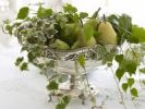 Thumbnail Antique silver fruit bowl with pears and stylish decoration in a noble ambiance