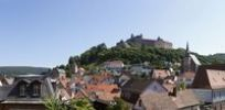 Thumbnail Plassenburg Castle, panoramic view over Kulmbach, Upper Franconia, Franconia, Bavaria, Germany, Europe