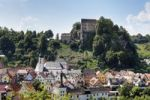 Thumbnail Pottenstein with Burg Pottenstein Castle, Franconian Switzerland, Franconian Alb, Upper Franconia, Franconia, Bavaria, Germany, Europe