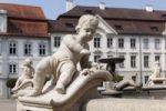 Thumbnail Detail of Marie Fountain in Residenzplatz square, Eichstaett, Altmuehltal, Upper Bavaria, Bavaria, Germany, Europe