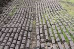 Thumbnail Mechanically pressed rows of black peat used for fuel in private homes, Birr, Leinster, Republic of Ireland, Europe