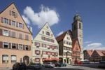 Thumbnail Houses and the minster on Weinmarkt square, Dinkelsbuehl, Romantic Road, Middle Franconia, Franconia, Bavaria, Germany, Europe
