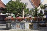 Thumbnail Roehrenbrunnen fountain on the market square, Feuchtwangen, Romantic Road, Middle Franconia, Franconia, Bavaria, Germany, Europe