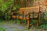 Thumbnail wooden park bench
