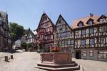 Thumbnail Market square with Marktbrunnen fountain and winehouse, Miltenberg, Mainfranken, Lower Franconia, Franconia, Bavaria, Germany, Europe