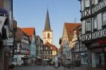 Thumbnail Main street with church of St. Michael, Lohr am Main, Mainfranken, Lower Franconia, Franconia, Bavaria, Germany, Europe