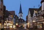 Thumbnail Hauptstraße mit Kirche St. Michael, Lohr am Main, Mainfranken, Unterfranken, Franken, Bayern, Deutschland, Europa