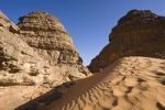 Thumbnail Rock formations in the Libyan Desert, Akakus Mountains, Libya, North Africa, Africa