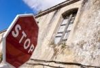 Thumbnail Stop sign in front of old ruins, Andalucia, Spain, Europe