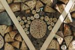 Thumbnail Nesting aid or insect houses for wild bees and other insects with wood and elderberry stems
