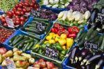 Thumbnail Vegetable stall at the Naschmarkt markets, Vienna, Austria, Europe